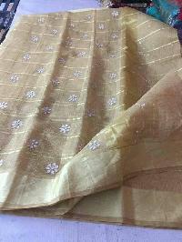 kota cotton sarees with zari checks(KCSZCS6)