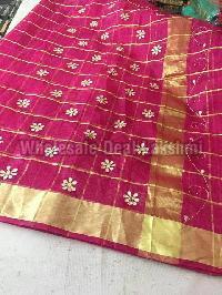 kota cotton sarees with zari checks(KCSZCS8)