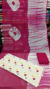 Chikan Silk Suit Material