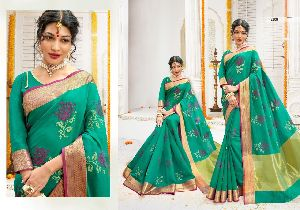 Beautiful Embroidered Silk Sarees
