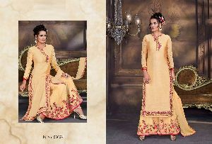 Beautifully Embroidered Silk Suits