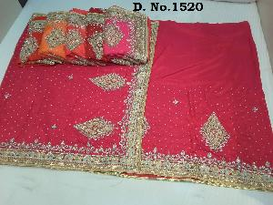 Bridal Wear Stone Work Sarees