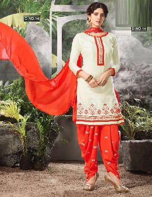 Designer Embroidery Work Cotton Salwar Suit