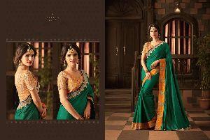 Designer Heavy Work Blouse Silk Saree
