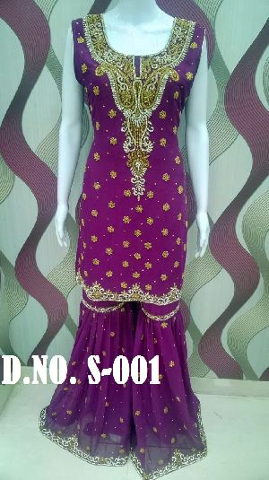 Designer Heavy Work Sharara Suit