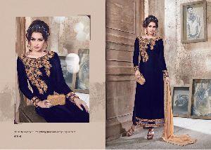Designer Long Velvet Salwar Kameez