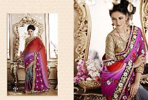 Embroidery Work Designer Saree