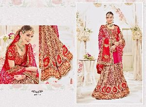 Heavy Bridal Bandhej Designer Saree