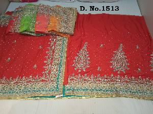 Heavy Stone Work Bridal Sarees