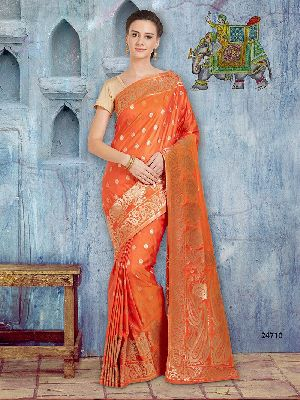 Indian Banarasi Silk Saree