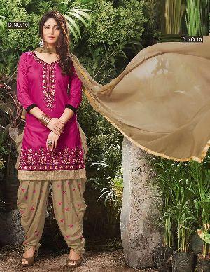Long Sleeves Patiala Salwar Suit