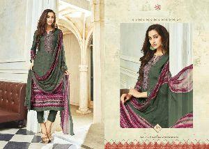 Twill Printed Pashmina Salwar Kameez
