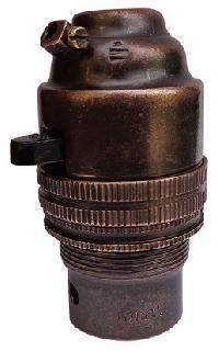 Brass Push Bar Lamp Holder