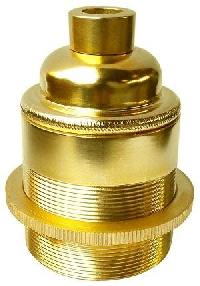 E27 Brass Lamp Holder With Shade Ring