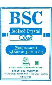 BSC Iodized Crystal Salt