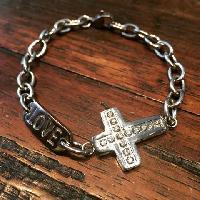 Chain Link Cross Love Bracelets