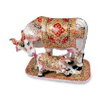 Marble Cow & Calf Statue