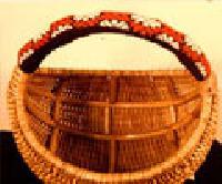 Cane Round Basket