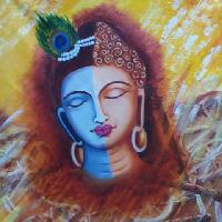 Vishnu Face Oil Painting