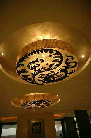Gold Leafing Ceiling
