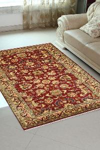 Applique Kashan Silk Carpet