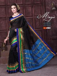 Cotton Silk Saree With Fancy Blouse