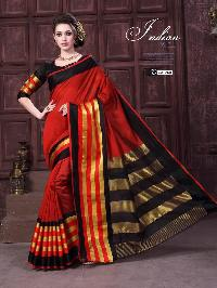 Fabric - Cotton silk saree with fancy blouse