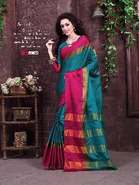 Saree Cotton silk with fancy blouse