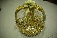 Golden Handmade Gift Basket