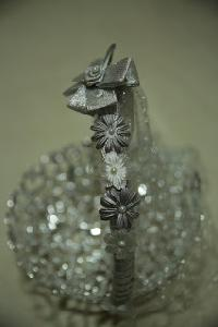 Silver Handmade Gift Basket