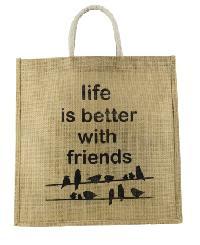 Jute Friends Printed Tote Bag