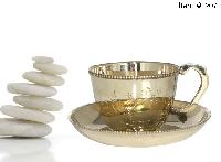 Brass Cup & Saucer Set
