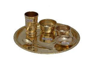 Brass Dinner Plate Set