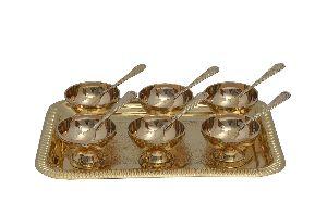 Brass Ice Cream Set