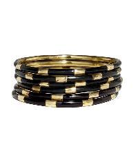 Resin brass bangle