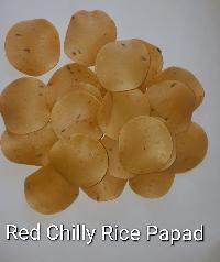 Red Chilli Rice Papad