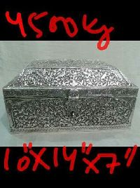 Silver Plated Antique Finished Box