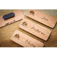 Wooden Name Badge