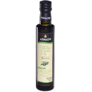 AENAON Greek flavored extra virgin olive oil with rosemary glass bottle 250ml