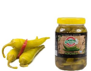 Greek Green Pickled Peppers, size No 1, 1Kg PET