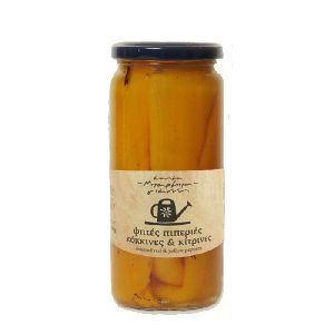 Roasted Florina Yellow Peppers 360gr