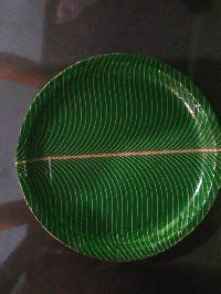 buffet plates green laminated