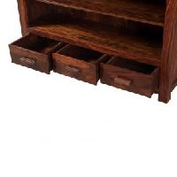 Sheesham Bookshelf With 3 Drawers