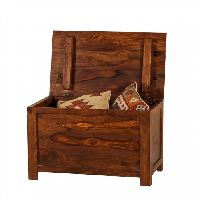 Sheesham Wood Chest Or Trunk, Medium