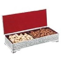2-in-1 Silver Dryfruit Box