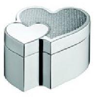 Silver Jewellery Box (heart Shape)
