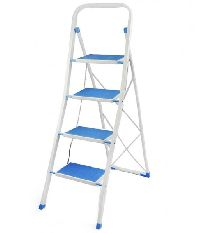 4 Step Steel Coated Blue Ladder