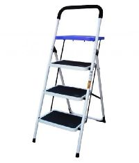 Black Steel Coated 3 Step Ladder