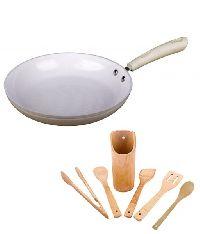 Ceramic Die Cast Deep Fry Pan