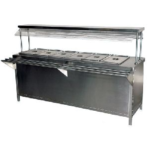 Stainless Steel Bain Marie Fast Food Counter